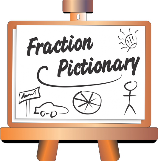 Giveaway drawing game. Free friday math fraction