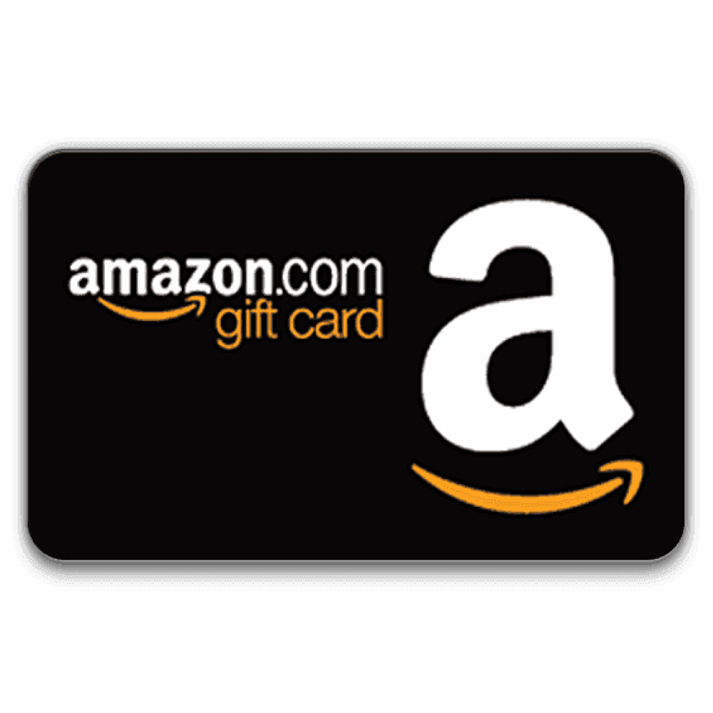 Giveaway transparent gift. Amazon card