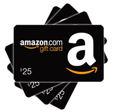 Giveaway transparent gift. Amazon cards