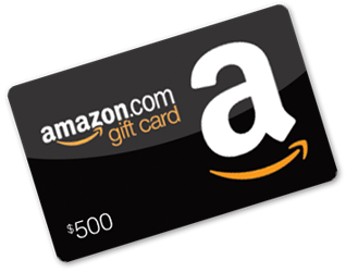 Giveaway transparent gift. Amazon card sweepstakes