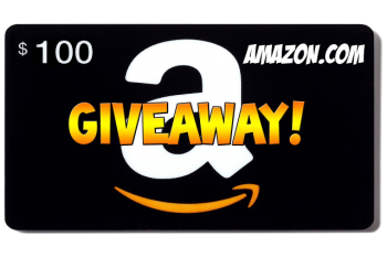 Giveaway transparent gift. Our amazon card celebration