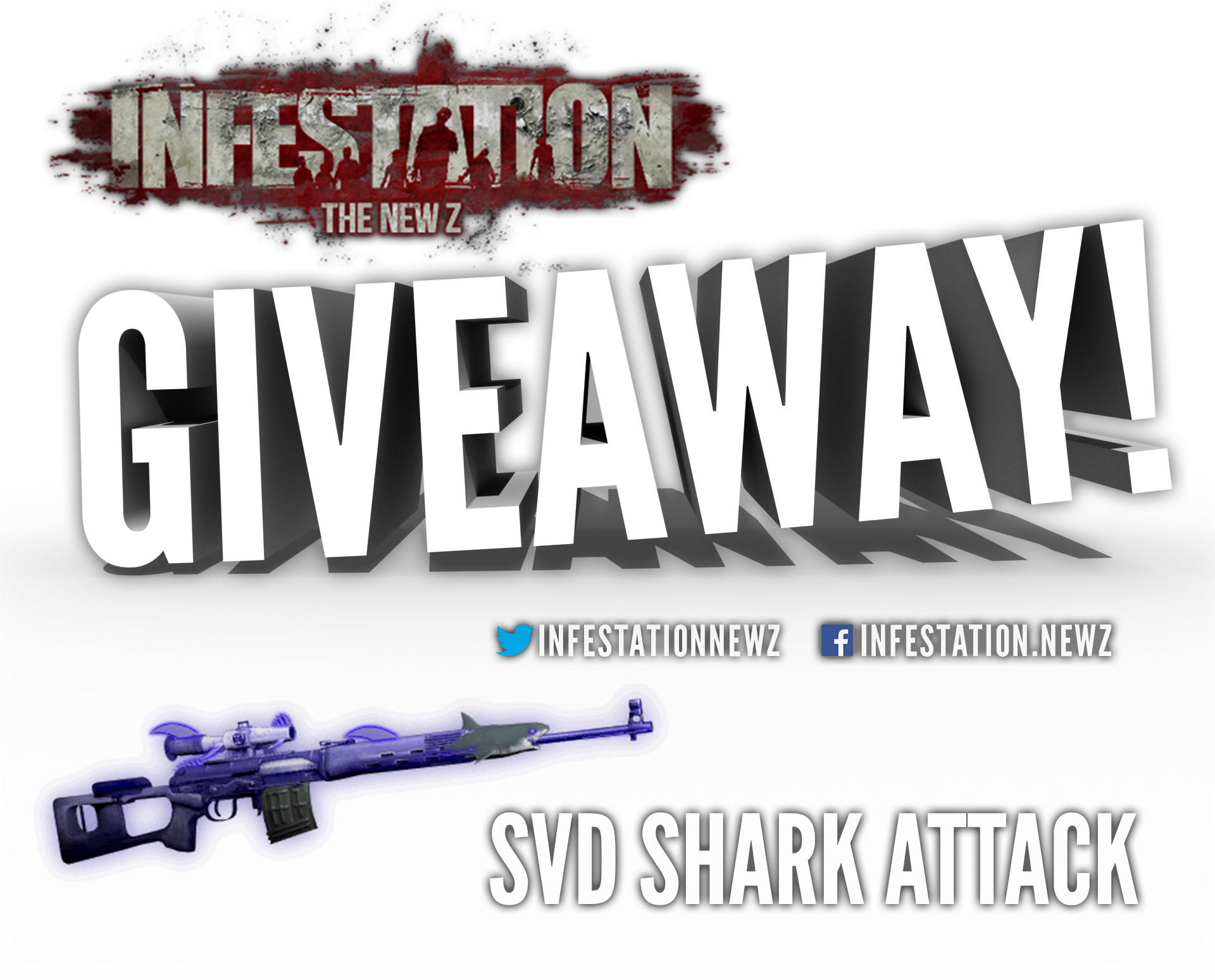 Giveaway transparent gun. Infestation the new z
