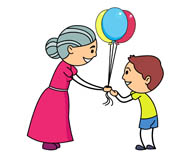 giving clipart grandmother