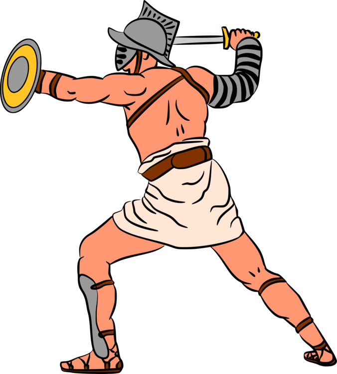 Gladiator clip clipart. Ancient rome drawing history