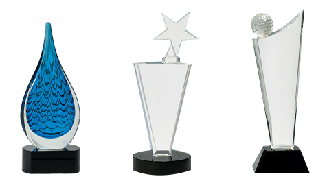Glass award png. Trophy and plaques awards