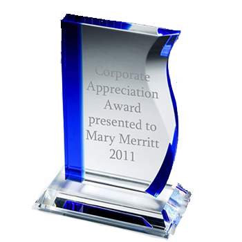 Glass award png. Awards personalized logo recognition