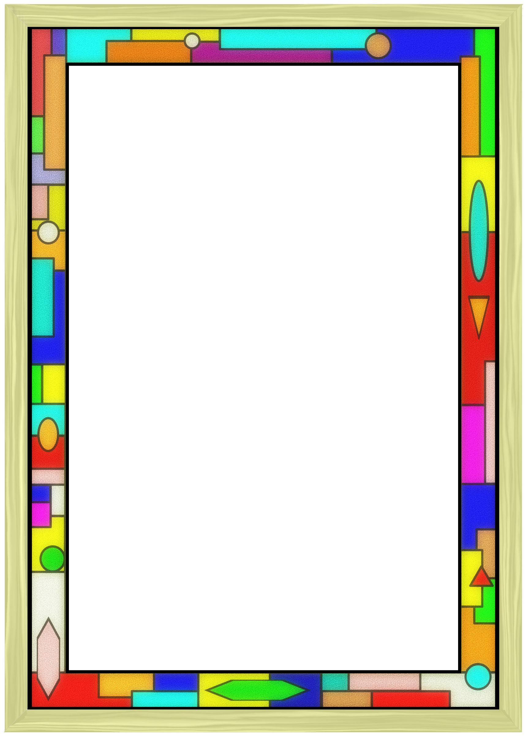 Fun borders png. Clipart stained glass border