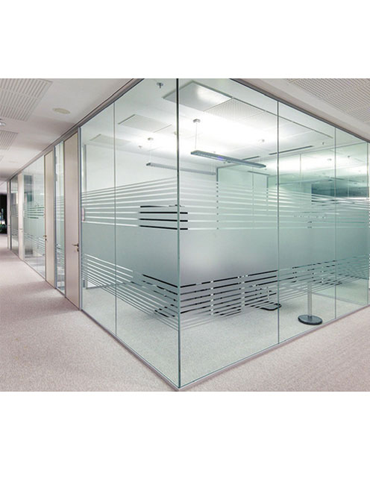 Transparent floor frosted glass. Jecams inc frameless partition