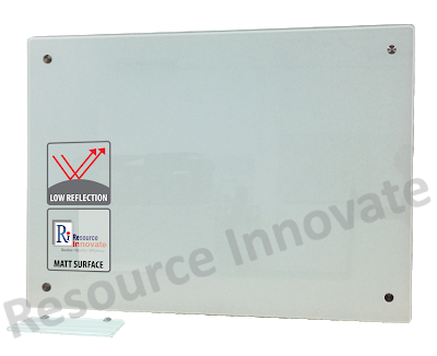Transparent boards tempered glass. Anti glare magnetic writing
