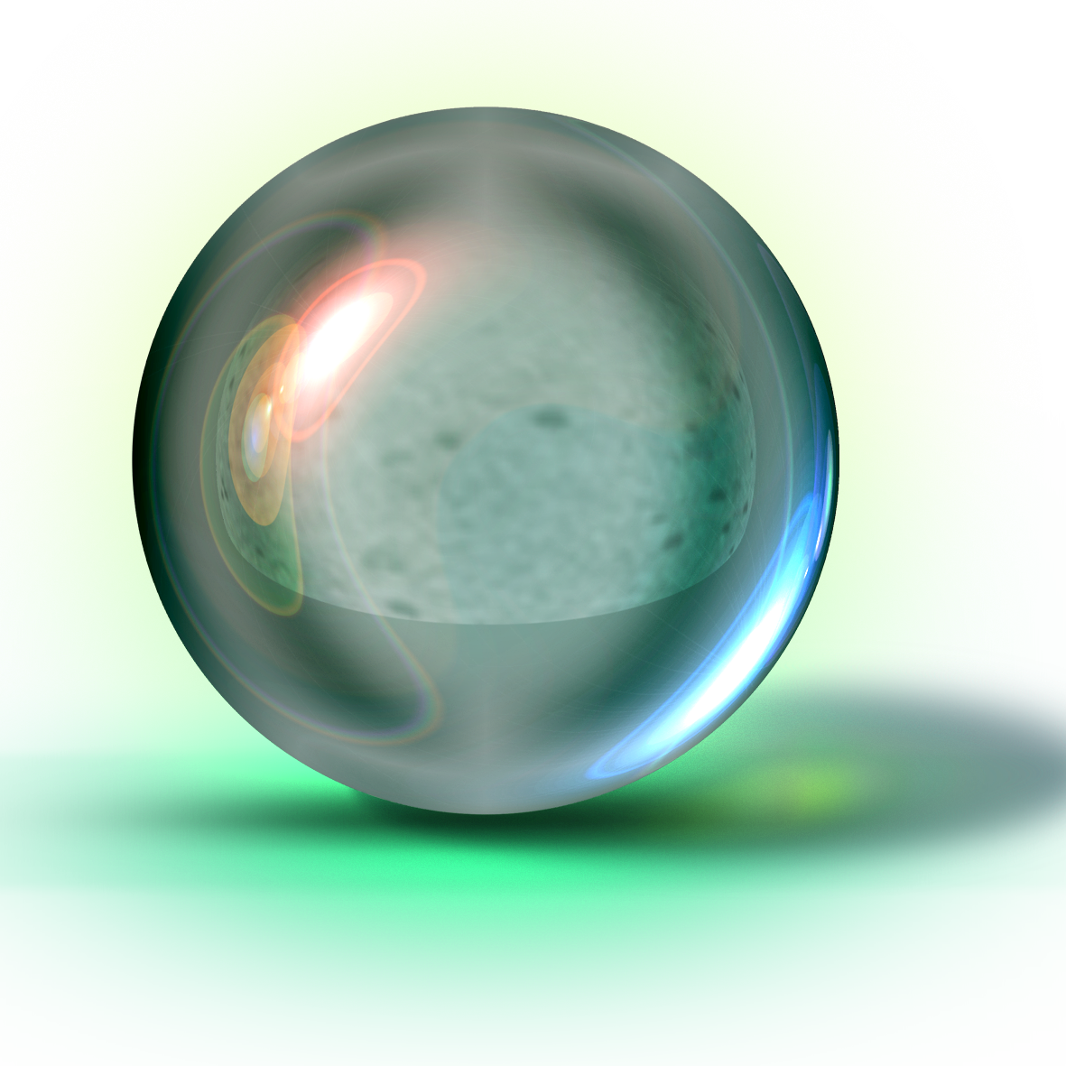 Glass glare png. Transparency and translucency ball
