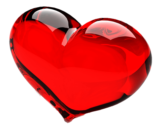 Glass heart png. Red transparent image