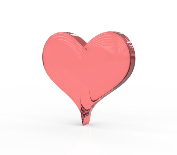 Glass heart png. D cad model library