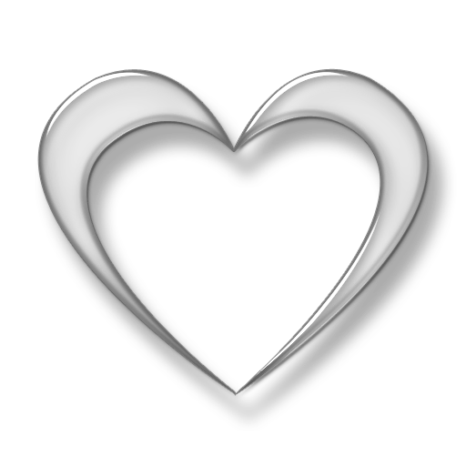 Glass heart png. D transparent icon