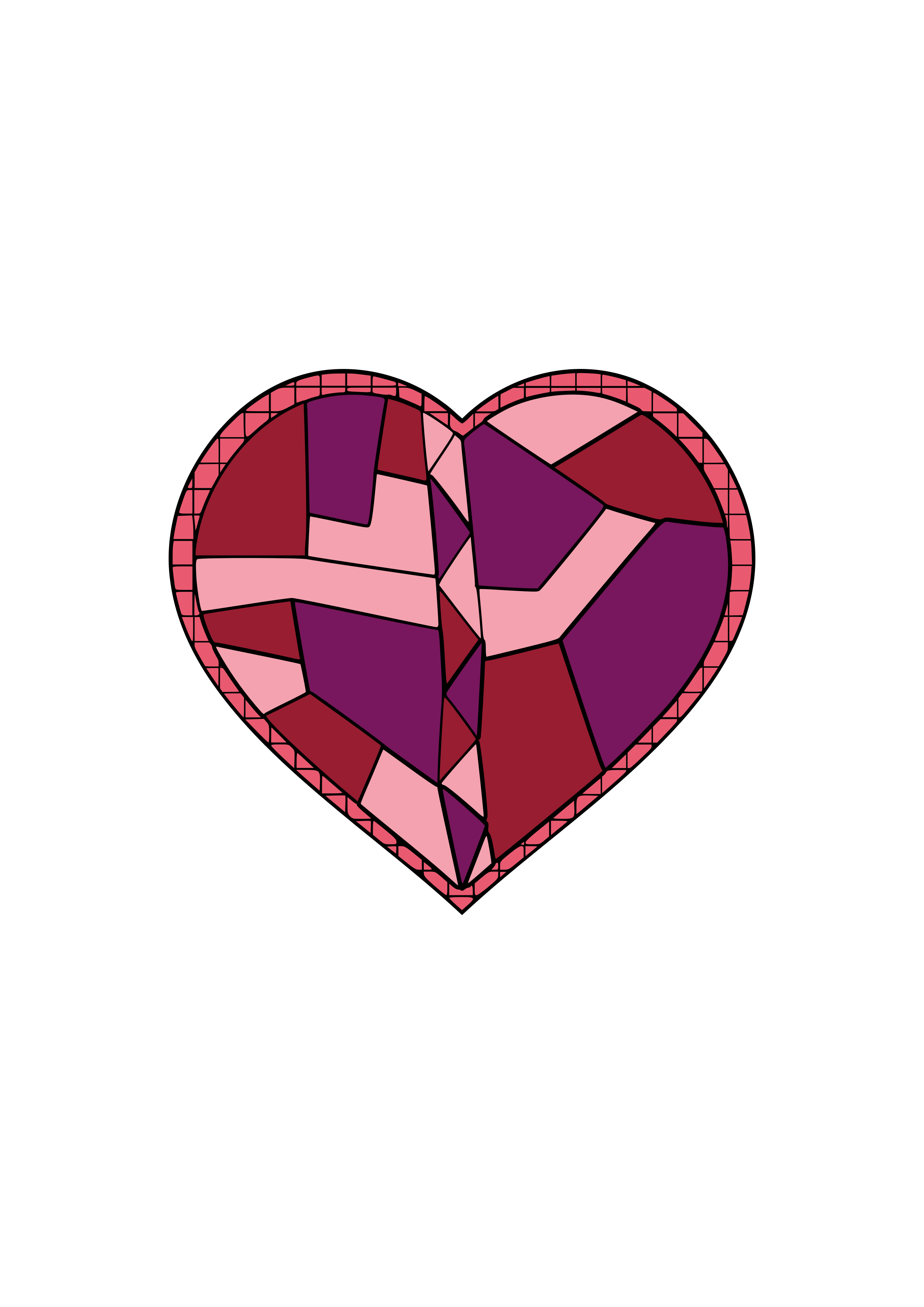 Glass heart png. Clipart stained big image