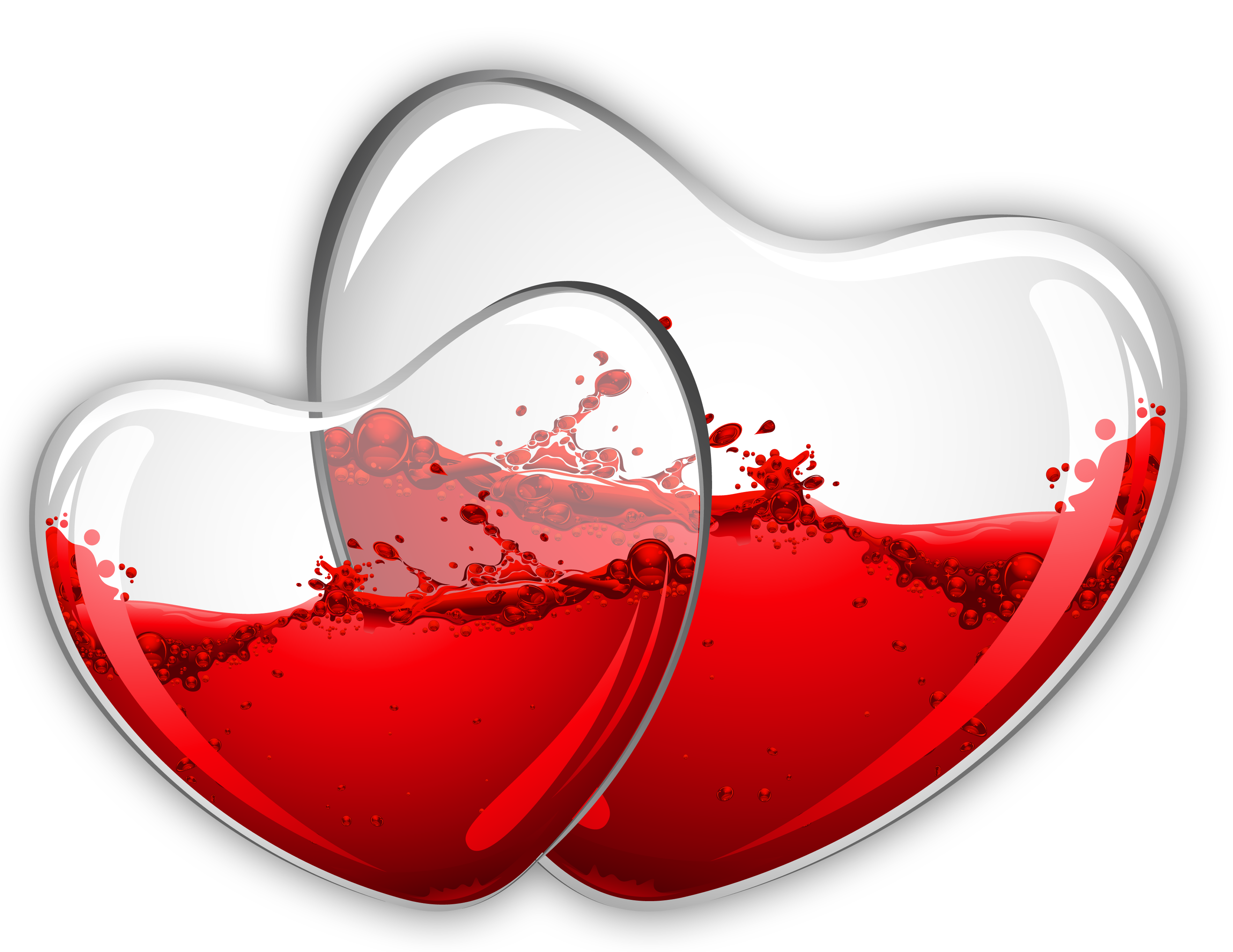 Glass heart png. Hearts with red wine