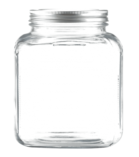 transparent jar background