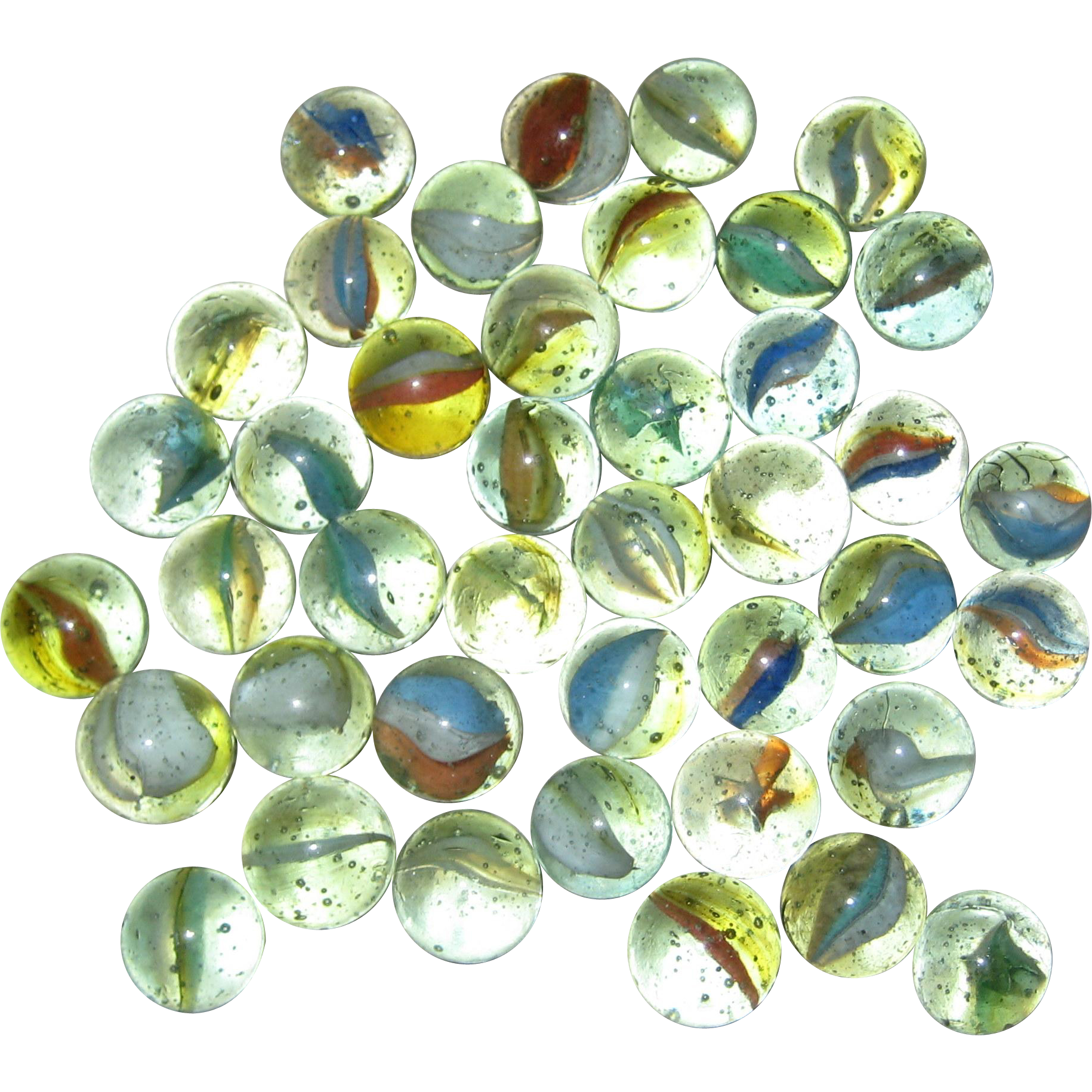 Glass marble png. Lot of peltier banana