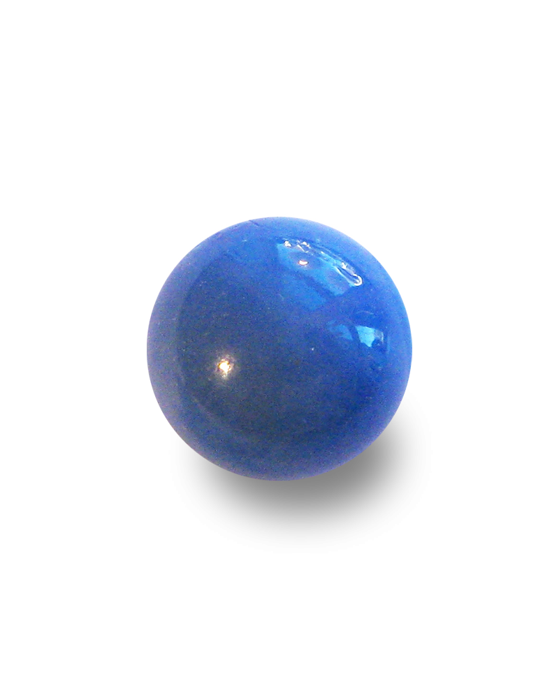 Glass marble png. Shooter bleu perle