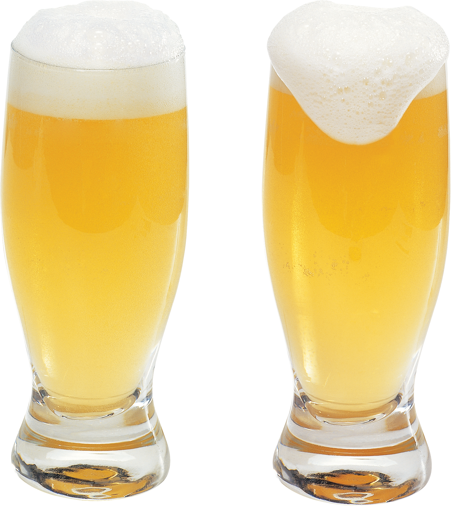 Transparent beer two. Glass of png image