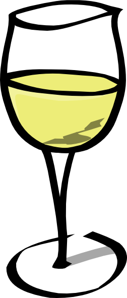 Glass of white wine png. Clip art at clker