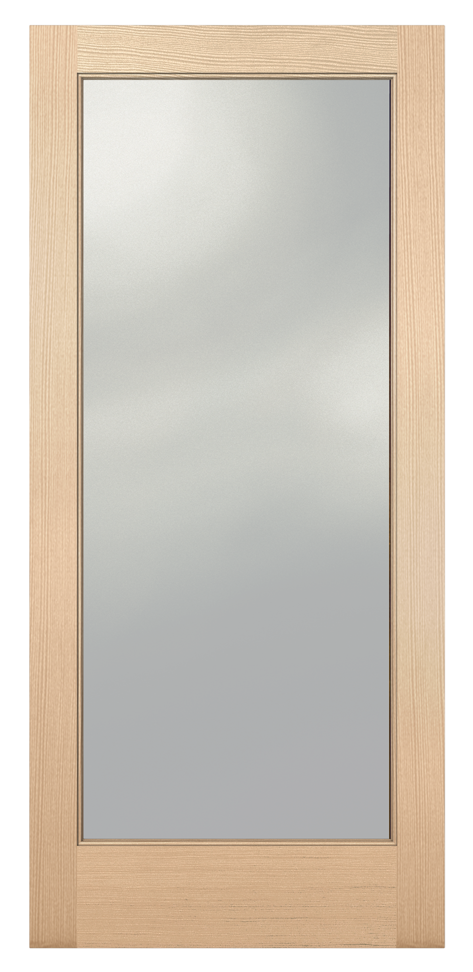Transparent doors gray. Authentic wood glass panel