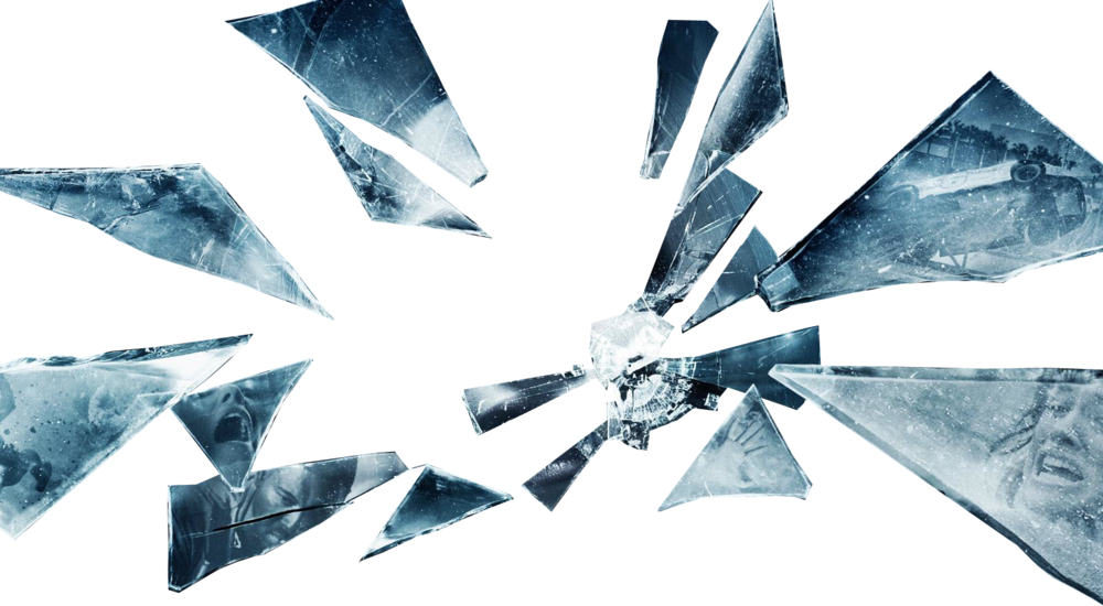 Glass shards png. Transparency and translucency information