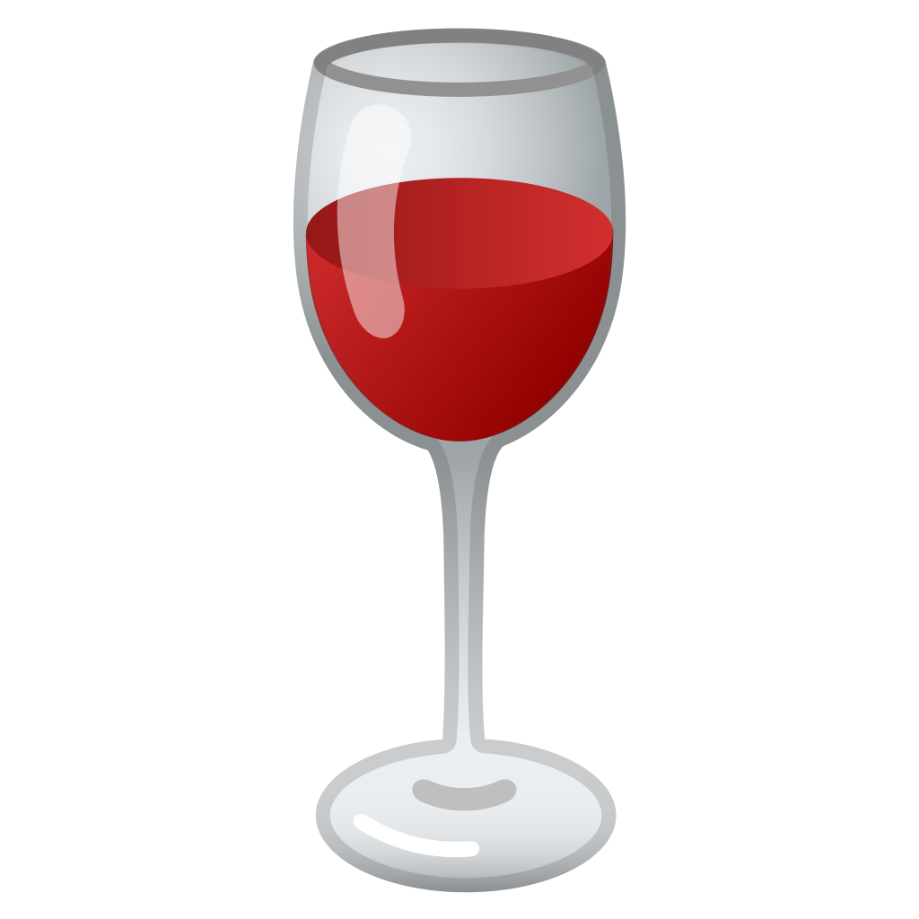 Glass with red drink png. Wine icon noto emoji