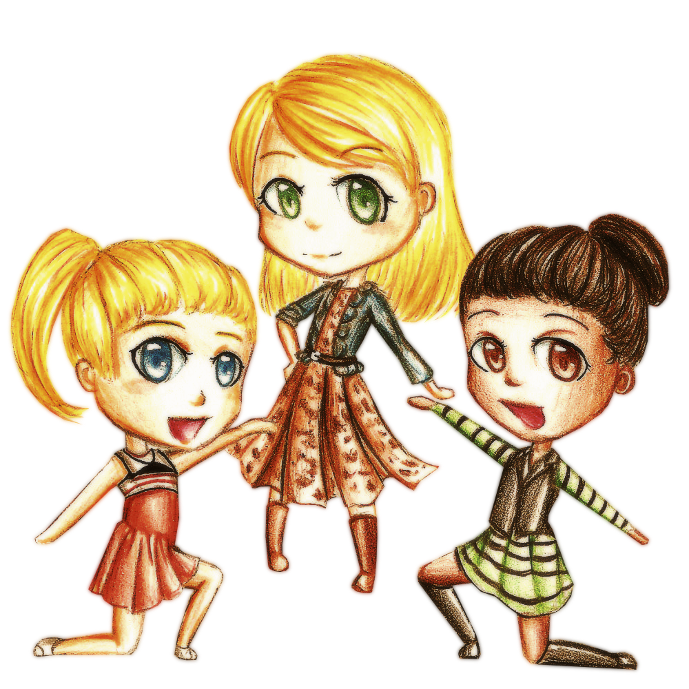 Glee drawing character. Image pc unholy trinity