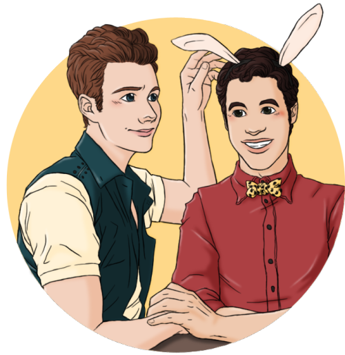 glee drawing klaine