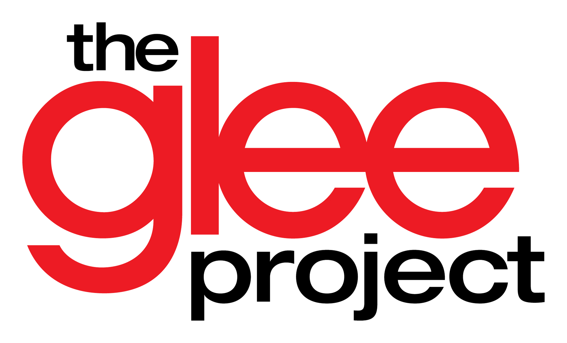 Glee drawing logo. The project journey continues jpg black and white download