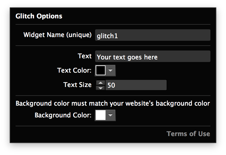 Glitch effect png. Widget for adobe muse