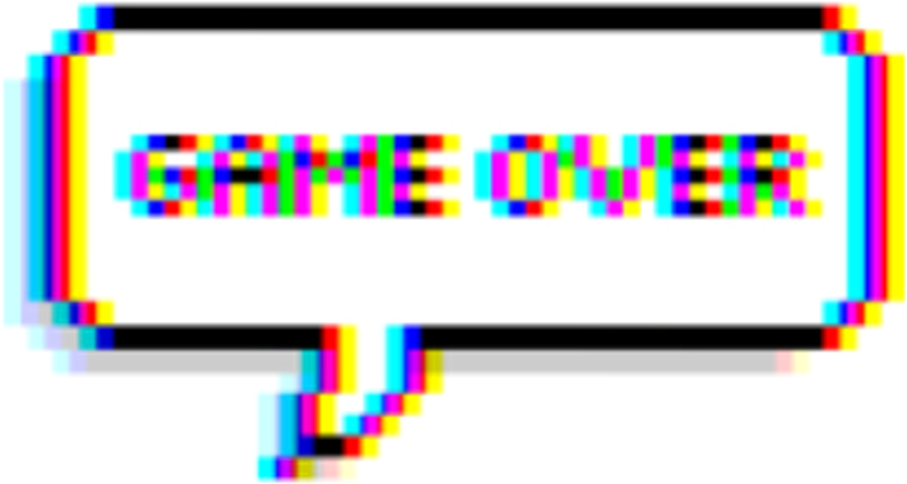 Glitch text png. Download hd game gameover