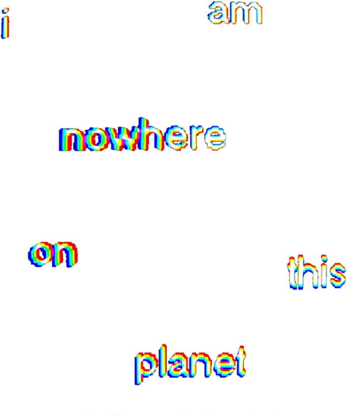 Glitch text png. Aesthetic d space nonexistant