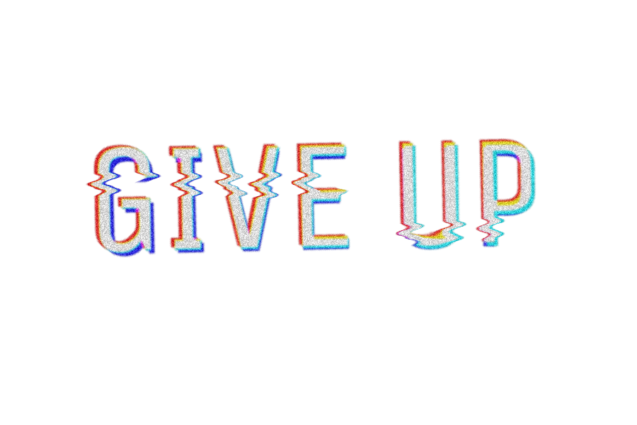 Glitch text png. Giveup sticker by trikurnia