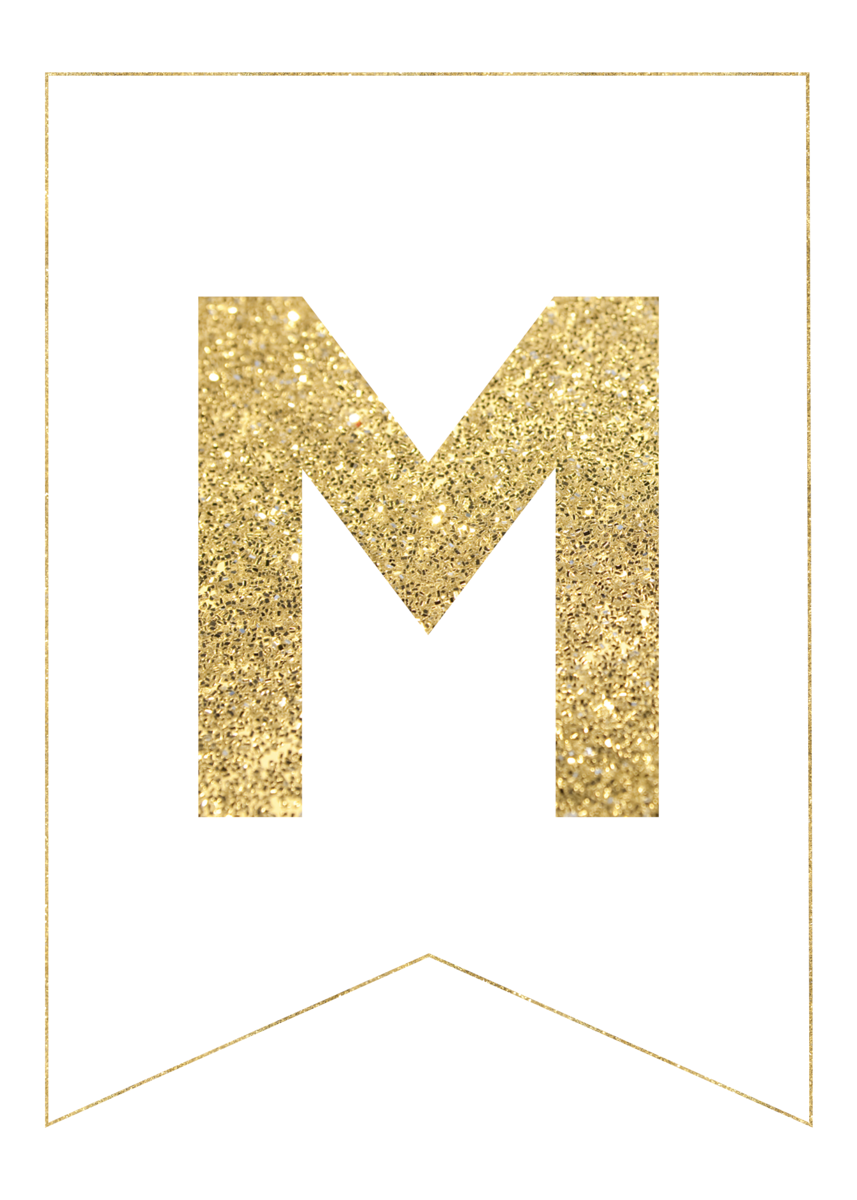Gold free printable letters. Glitter banner png svg library download