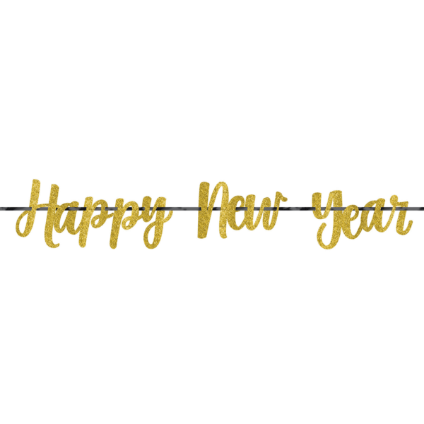 Happy new year ct. Glitter banner png image transparent stock
