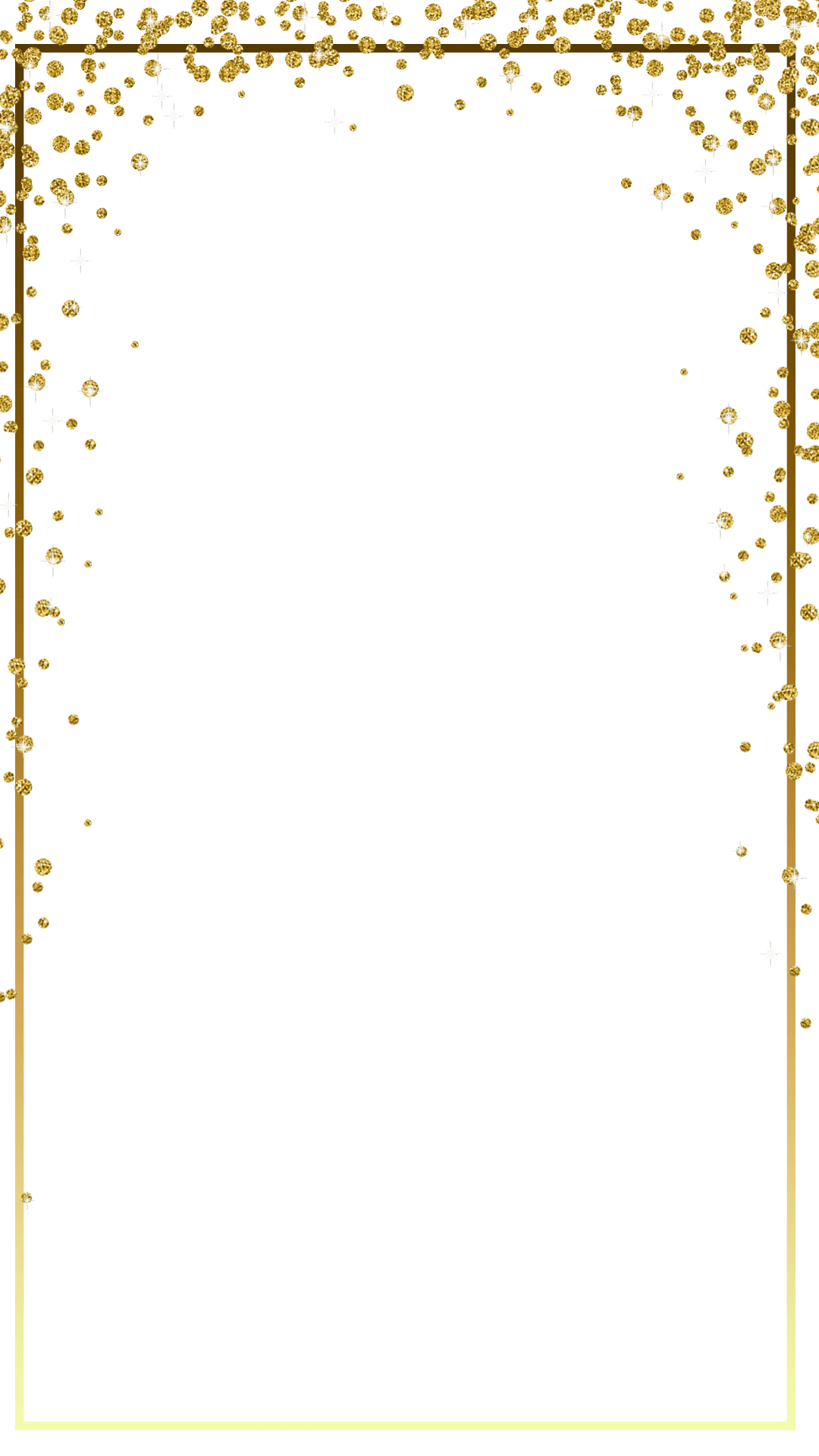 Glitter border png. Gold engagement snapchat filter