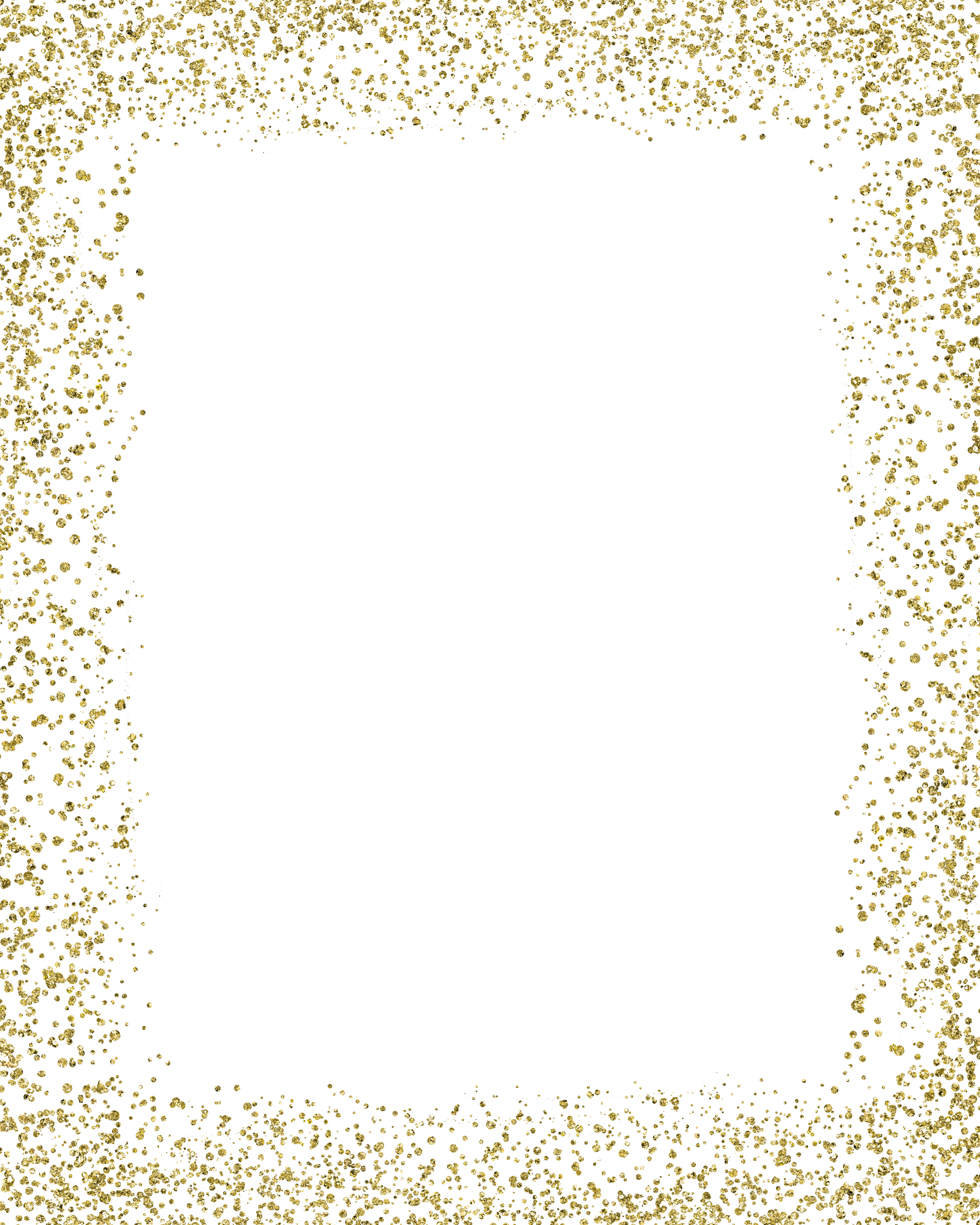 Glitter border png. Gold mime color transprent