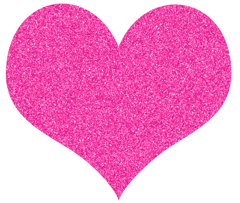 Glitter clipart. Pink sparkly heart tagged