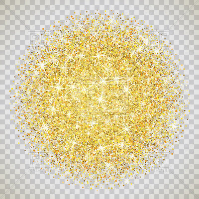 Gold glitter on transparent background Vector Image – Vector Artwork ...