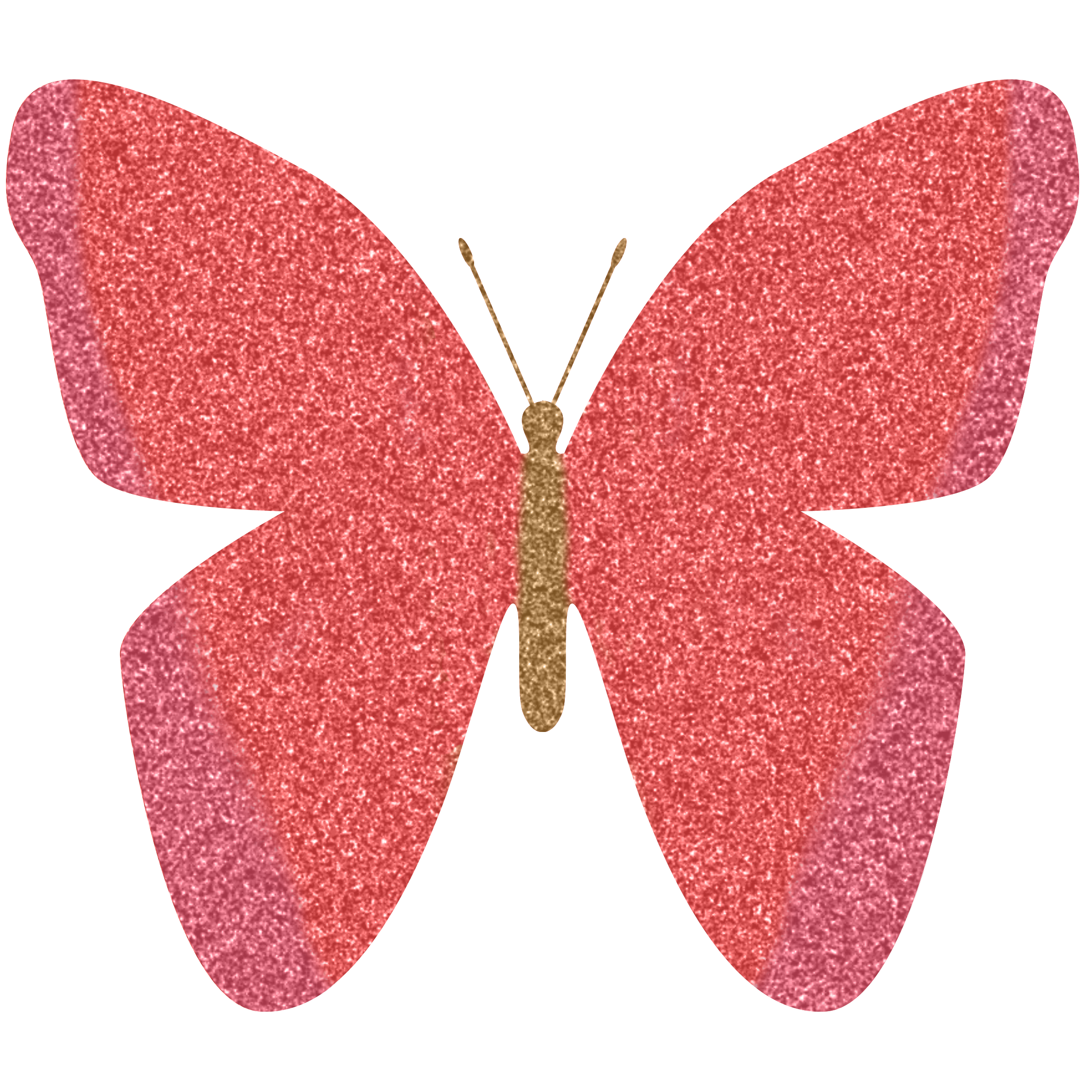 Glitter clipart rose gold heart. Butterfly