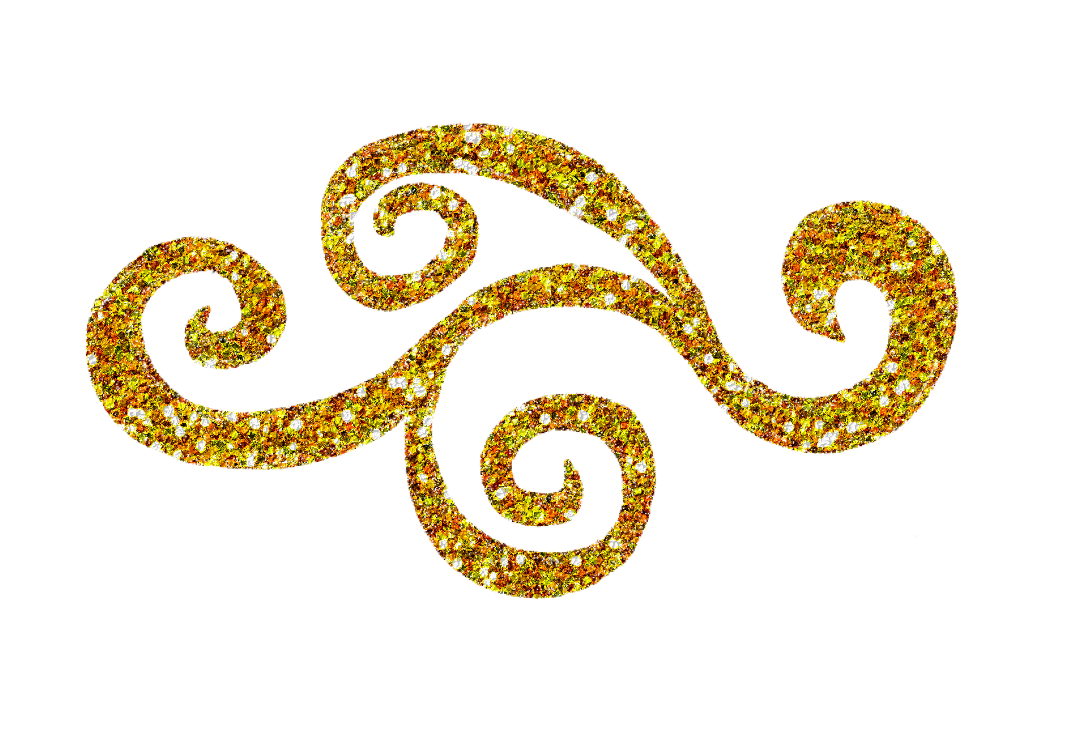 gold glitter dots png