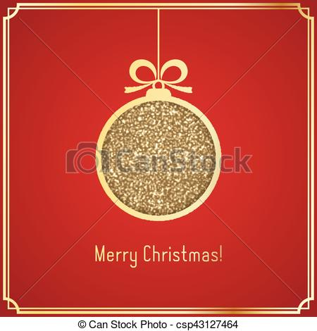 Gold christmas ball made. Glitter clipart elegant graphic freeuse stock