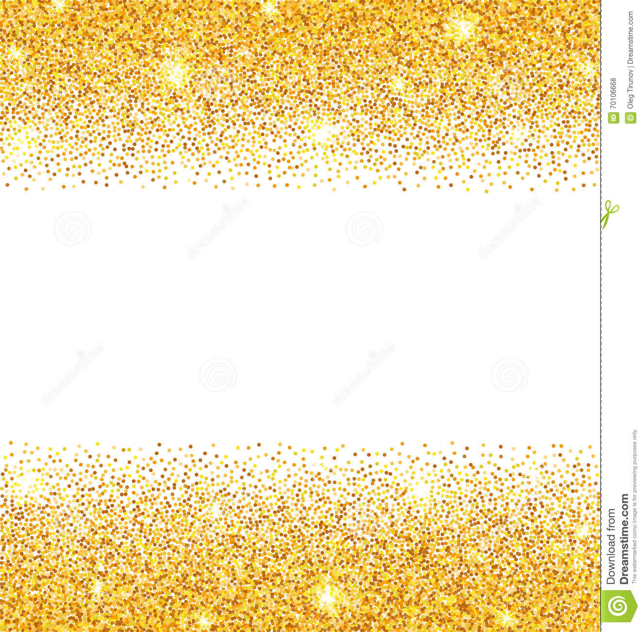 Golden sparkles on white. Glitter clipart gold abstract clipart transparent