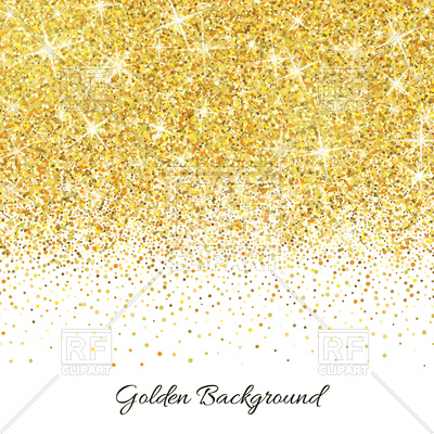 Background vector image artwork. Glitter clipart gold abstract banner transparent