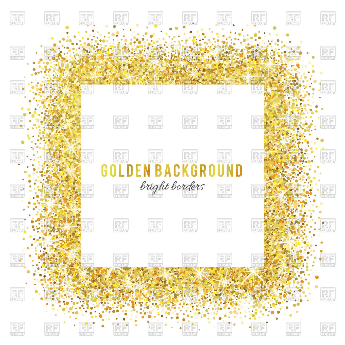 Frame vector image artwork. Glitter clipart gold abstract banner download
