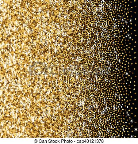 Glitter clipart gradient. Golden with scattered sparkles png library download