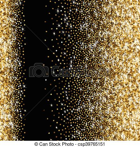 Golden with scattered sparkles. Glitter clipart gradient picture library library