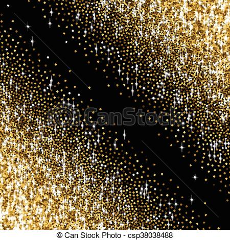 Glitter clipart gradient. Golden with scattered sparkles png freeuse