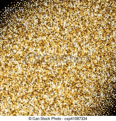 Golden with scattered sparkles. Glitter clipart gradient clip black and white